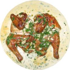 Цыпленок табака в молочном соусе